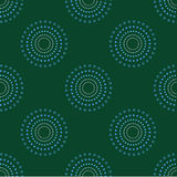 Obscurité sans couture 1 de Dots Green Background Abstract Pattern de cercle Photos libres de droits