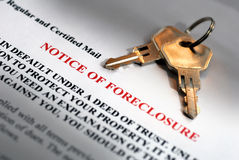 Observação da execução duma hipoteca Fotografia de Stock