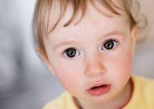 Observação do bebê surpreendida Foto de Stock