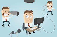 Observação do escritório dos desenhos animados ilustração royalty free