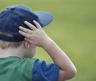 Observação do menino Fotografia de Stock