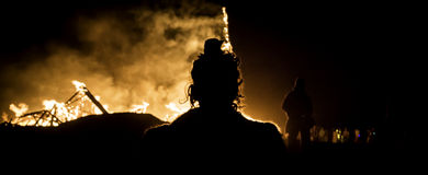 Observação no fogo Imagens de Stock