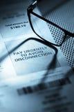 Observação urgentemente de advertência do pagamento Fotografia de Stock Royalty Free
