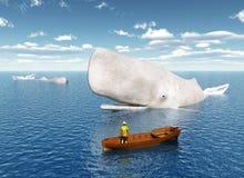 Observación de la ballena ilustración del vector
