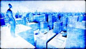 Observación de la ciudad Foto de archivo libre de regalías
