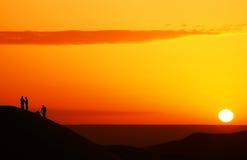 Observación de la salida del sol Imagen de archivo