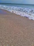 Observación de las ondas por la costa Fotos de archivo libres de regalías