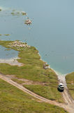 Observación de los pelícanos Imagen de archivo