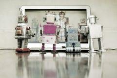 Observación de los robots Imagen de archivo