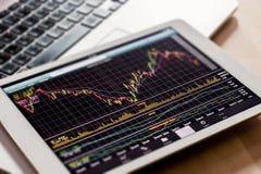 Observación del mercado de acción Imágenes de archivo libres de regalías