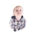 Observación del niño hermoso divertida Imágenes de archivo libres de regalías