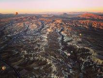 Observación del paisaje impresionante del valle del cappadocia Imágenes de archivo libres de regalías