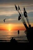 Observación de la puesta del sol Imágenes de archivo libres de regalías