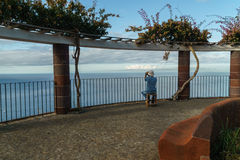 Observador das baleias Fotografia de Stock