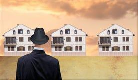 Observador de las propiedades inmobiliarias Fotos de archivo libres de regalías
