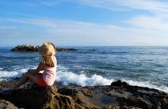 Observador do oceano Foto de Stock