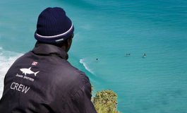Observadores de tiro del tiburón, Cape Town Foto de archivo libre de regalías