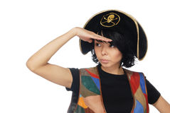 Observant piratic captain royalty free stock photography