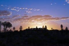 Observação do nascer do sol Fotos de Stock Royalty Free