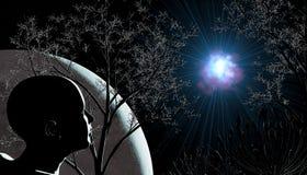 Observateur de ciel Illustration de Vecteur