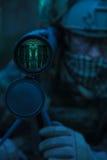 Observateur de garde forestière d'armée images stock