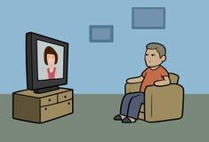 Observateur de TV Images stock