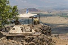 Observateurs de l'ONU dans la frontière syrienne israélienne photos stock