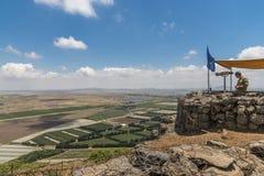 Observateurs de l'ONU dans la frontière syrienne israélienne images libres de droits