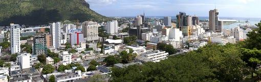 Observatiedek in het Fort Adelaide op de hoofdstad haven-Louis van Mauritius Stock Fotografie