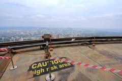 Observatiedek in Kuala Lumpur Tower Stock Afbeeldingen
