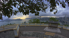Observatiedek op Lantau-Eiland Royalty-vrije Stock Afbeelding