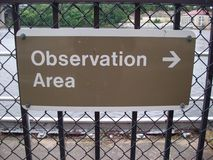 Observation Area Sign Royalty Free Stock Photos