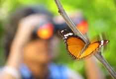 Observation av skönheten av naturen Arkivbilder