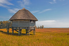 Free Observation Cabin At Lagoon Landscape Near Peninsula Zingst Fischland Darss, Germany Royalty Free Stock Photos - 96509618