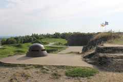 Observation cupola and rear entrance WW1 French Fort Douaumont Stock Image
