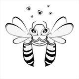 Observation d'amour de deux abeilles Image libre de droits