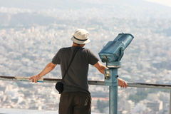 Observation d'homme Photographie stock