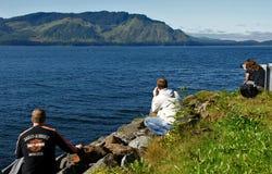 Observation de baleine Image stock