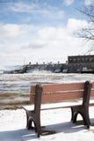 Observation de l'inondation Photographie stock