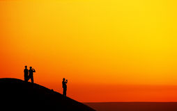 observation de lever de soleil Image libre de droits