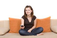 observation de TV Photographie stock libre de droits