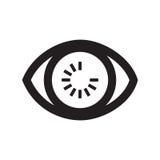 Observation de yeux Chargement d'oeil Image libre de droits