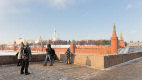 The observation deck on the Big Bridge Moskva Stock Photo