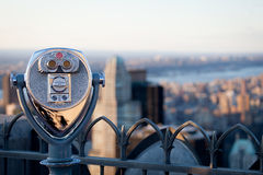 Observation Deck binoculars stock photography