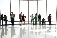 Observation Deck of Burj Khalifa, Dubai Royalty Free Stock Image