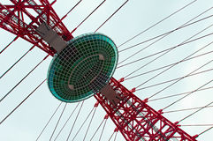 Observation deck on cable stayed bridge Stock Image