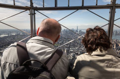 Observation deck of Empire State Building Royalty Free Stock Images