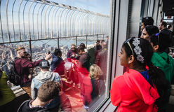 Observation deck of Empire State Building Stock Photo