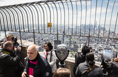Observation deck of Empire State Building Stock Image