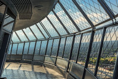Observation deck equipped with safe secured fence Royalty Free Stock Image